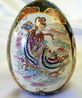 Moriage Egg Vintage Chinese Porcelain Hand Painted Lg Geisha Dancer Gold Accent