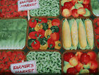 Fabric 3 yds x43 Crafting Sewing Print Farmers Market Patty Reed Fruit & Veggies