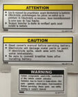 YAMAHA TDR250 BATTERY SIDE PANEL CAUTION WARNING DECALS X 3