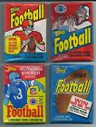 Four Topps Unopened Football Was Packs 1982, 1983, 1984 and 1985