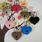 OLD Antique Vintage Style  Assorted color Heart Padlocks with Keys (Lot of 7)