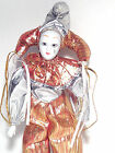 New Bisque Porcelain Poseable Jester tear drop doll 11 1/2