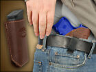 Brown Leather Gun Concealment IWB Holster +Mag Pouch for Taurus Slim 708 709 740