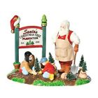Department 56 The Original Snow Village RETIRED Santa Claus GARDEN Plant Sign