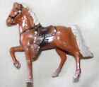 BROWN HORSE RANCH FARM ZOO MADE IN JAPAN RARE VINTAGE LEAD FIGURE...SEE MORE!