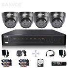 SANNCE 4CH Full 960H HDMI DVR 800TVL CCTV Outdoor Security Camera System 500GB