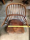 Vintage Handicap Chair Windsor braceback antique 19th century ? Civil War ?