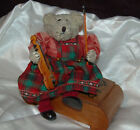 RARE  1950/60´s    FANTASTIC NOSTALGIC  MUSIC BEAR FROM GERMANY,  23 cm