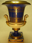 Antique Porcelain Hand Painted Cobalt Blue & Gold Vase w/ beared god(s), 19th C