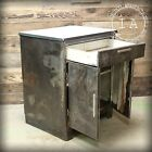 Vintage Industrial Metal Medical Cabinet Apothecary Steampunk Antique Dresser