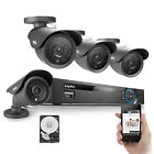 Sannce 4CH 960H HDMI DVR 800TVL Outdoor Security Camera Surveillance System 1TB