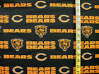 NFL CHICAGO BEARS 100%  COTTON FABRIC BY THE  1/2 YARD