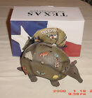 Armadillo Coin Bank Figurine Texas Souvenir
