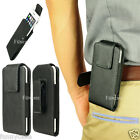Leather Pouch Case For iPhone 6 Galaxy S3 S4 w/ Rotate Swivel Holster Belt Clip