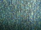 TEXTURE GREEN OLIVE TEAL BLACK WOVEN COTTON  UPHOLSTERY FABRIC