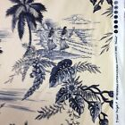 Hoffman Moorea Hawiana toile black gray tan fabric by the yard cotton print