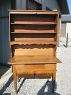 Antique pine buffet, hutch, cupboard with flour bins