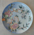 TOYO HAND PAINTED GLAZED PORCELAIN FLOWERS & BIRD DISH PLATE 10