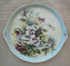 HAND PAINTED PORCELAIN CHINA PLATE TRAY VIOLET FLOWERS  9