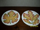 Vintage Decorative Leaf Motif Plates Made In Italy