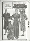 STRETCH & SEW SEWING PATTERN 2000 CLASSIC ROBES MEN WOMEN ANN PERSON COLLE UNCUT