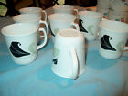8 Corning ware coffee cups lot retired BLACK ORCHID , mugs excellent condition