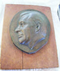 ANTIQUE BRONZE OR COPPER PLAQUE OF LINCOLN BY RANDOLPH JOHNSTON, LISTED