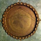 LG VINTAGE ORNATE BRASS INDIA SERVING PLATE TRAY DISH  Wall Hanging 15.75