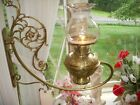 Exquisite Pair 1880 Bradley & Hubbard Ornate Brass Bracket Oil Lamps Electrified