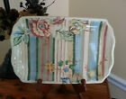 Tracy Porter Amourette Hand Painted SERVING PLATTER PLATE DISH w Scalloped Edge