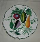 Green Hand Painted Decorative Plate with Vegetable Designs 12