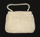 DAVIS ALUMESH 1940s Ivory Color Chain Mail Handbag Purse