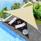 Triangle Sun Shade Sail Fabric Outdoor Patio Pool Canopy Awning Cover 12 or 16