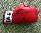 MIKE TYSON SIGNED AUTOGRAPHED EVERLAST LACE UP BOXING GLOVE + HOF 2011 PSA DNA