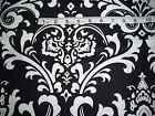 Large print Black and White Damask fabric-home decor - 1/2 yard