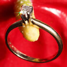 VINTAGE MAGIC GLO 14kt YELLOW GOLD 0.25ct NATURAL DIAMOND ENGAGEMENT RING 1.8g