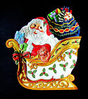 Large Fitz and Floyd Santa on Sleigh Essentials Snack Therapy Tray