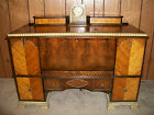 Vintage Roos Cedar Chest with working clock multi toned wood finish