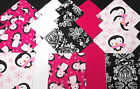 Quilting Soft Snuggle Flannel Squares 40 pk 5 Sq Pink  Black Pequin Quilt