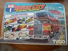 Tyco US 1 Trucking Slot Car Motor City Set #3209 Complete 5 Action Stations