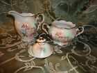 Schumann Arzberg Bavaria Wild Rose Blush Large Creamer and Sugar Bowl