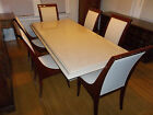 MARBLE DINING ROOM TABLE & SIX CHAIRS by PIETRO COSTANTINI  - LUXURY MERCHANDISE