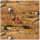 FIELDS OF GOLD-PHEASANTS & DOGS IN FIELD - 10062 - Real Tree by Print Concepts