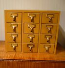 Vintage Antique Library Card Catalog File Cabinet 12 Drawers Gaylord Brothers