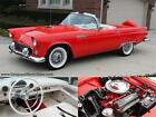 Ford  Thunderbird 1956 ford thunderbird restored a c original sticker ps