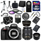Nikon D3300 Digital SLR DSLR Camera + 3 Lens 18-55mm + 32GB KIT