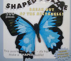 jigsaw puzzle 500 pc blue butterfly shaped by Paper House Productions