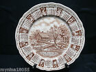 a1975 Alfred Meak Staffordshire Calender Zodiac Plate God Bless Our House 9