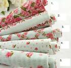 Wholesale Table Cover Light Green ROSE Cotton Fabric 110x90cm (1 Yard) -