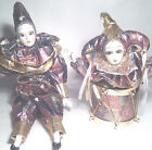 NEW Jester Bisque Porcelain Doll and matching Doll in a Drum Music Box (222)